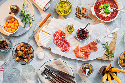 Tapas on table - p312m1180380 by Jakob Fridholm