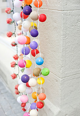 Colorful string lights - p312m1338668 by Rebecca Wallin