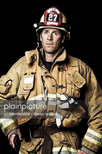 Fireman In Studio
