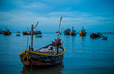 Fishing harbor in Mui Ne, Binh Thuan Province, Vietnam, Southeast Asia - p934m1177099 by Sebastien Loffler