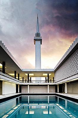 Nationalmoschee, Masjid Negara, Kuala Lumpur - p1202m1061232 von Jörg Schwalfenberg