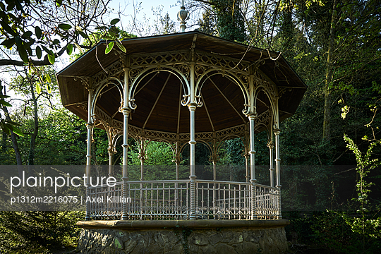 Deserted pavillion in the forest - p1312m2216075 by Axel Killian