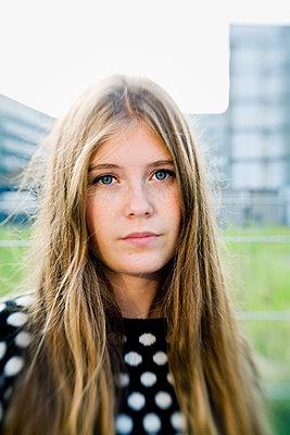 Germany, Berlin, Portrait of blonde girl (16-17) - p352m1126643f by Lena Katarina Johansson