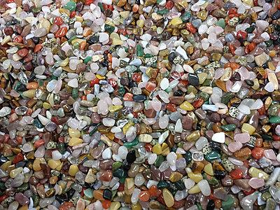 Ruegen, Baltic Sea, Mecklenburg-Vorpommern, island, semi-precious stones, jade, tiger eye, rose quartz, Bergkristal - p300m1008509f by Jana Mänz