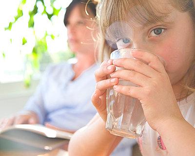 Girl Drinking - p6692034 by David Harrigan