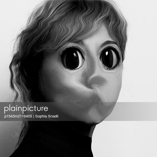 Big eyes, no words - p1543m2116405 by Sophia Snadli