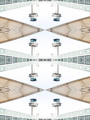 Abstract Kaleidoscope Salzburg Airport - p401m2210944 by Frank Baquet