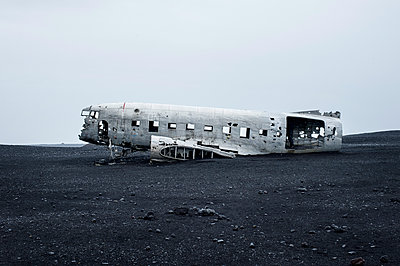 Planewreck on lava soil in Iceland - p947m1586603 by Cristopher Civitillo