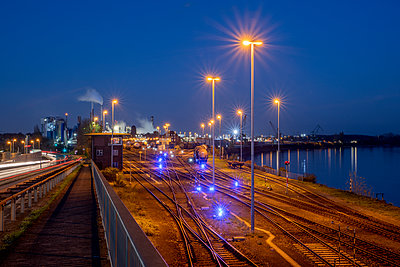 Industrial plants with freight station - p401m2228382 by Frank Baquet