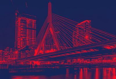 Zakim Bunker Hill Memoriam Bridge Boston Massachusetts - p401m2278082 by Frank Baquet