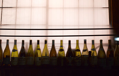 Row of Wine Bottles, Gion District, Kyoto, Japan - p694m2200725 by Maria K