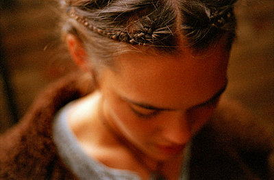 Braids in a young woman's hair - p3010653f by fStop