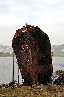 Rusty shipwreck - p470m954762 by Ingrid Michel