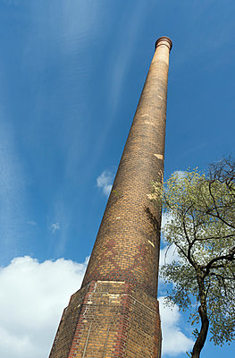 Old chimney, once part of a shunting yard - p429m1469399 by Mischa Keijser