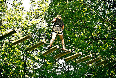 Ropes course - p445m1051414 by Marie Docher