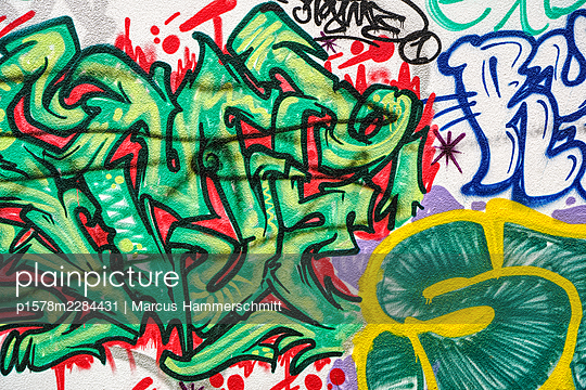 Graffiti - p1578m2284431 von Marcus Hammerschmitt