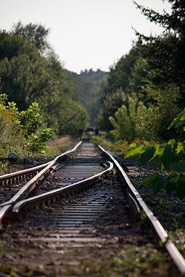 Gleis mit Weiche - p817m2016126 von Daniel K Schweitzer