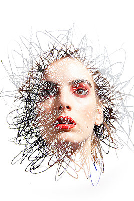 Face Emerging from Scribble - p1248m2026310 by miguel sobreira