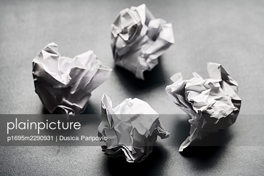 Four paper balls - p1695m2290931 by Dusica Paripovic