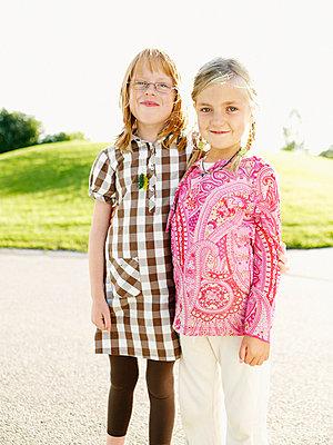 Two girls Sweden. - p31220328f by Fredrik Nyman