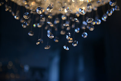 Crystal chandelier close-up - p1267m1514235 by Wolf Meier