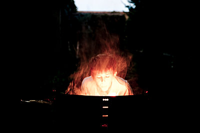 Playing with fire - p445m1074130 by Marie Docher