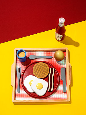 Fake breakfast  - p1353m1208223 by Federico Naef