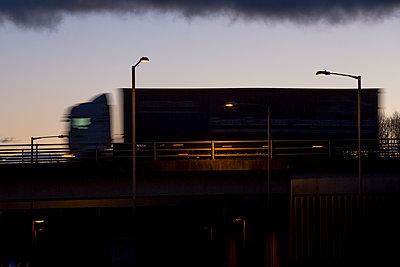 Truck crossing a bridge - p1057m1503177 by Stephen Shepherd