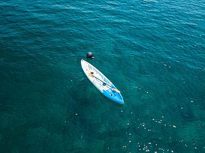 Aerial view of empty kayak, Amed, Bali, Indonesia - p1166m2202331 by Konstantin Trubavin