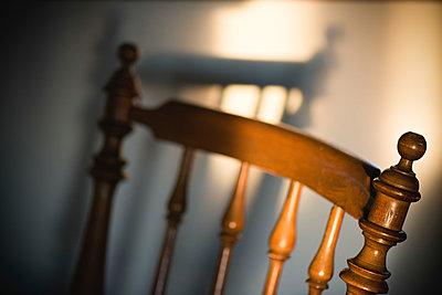 Backrest of an old wooden chair - p1418m1571982 by Jan Håkan Dahlström