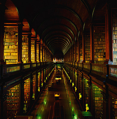Long Room Library, Trinity College, Dublin, Co Dublin, Ireland - p4428963 by The Irish Image Collection