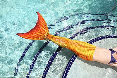 Meerjungfrau im Pool - p045m925828 von Jasmin Sander