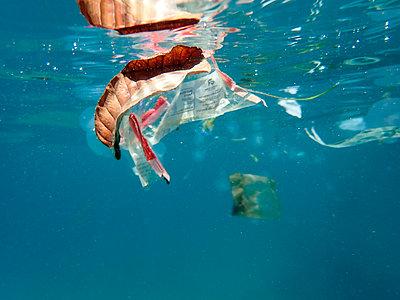 Plastic waste floating in the sea - p300m2103704 von Gerald Nowak