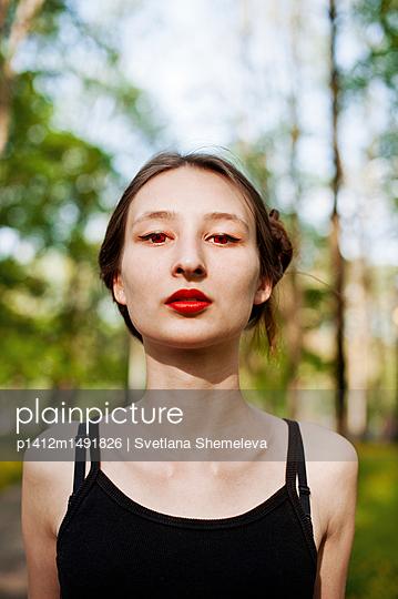 The girl with red eyes - p1412m1491826 by Svetlana Shemeleva