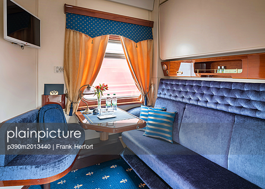 Trans Siberian Railway Express Train Interior - p390m2013440 by Frank Herfort