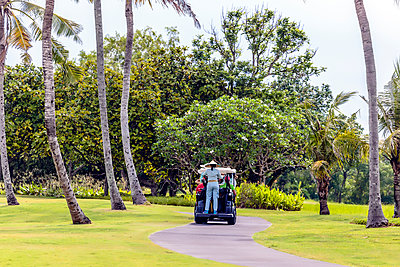 Golf carts on golf course in Bali - p1108m1441020 by trubavin