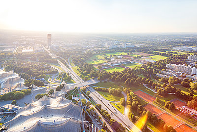 Germany, Bavaria, Munich, view over the Olympic Area - p300m1460573 by Michael Malorny