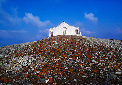 Co Mayo, Ireland; Chapel on the summit of Croagh Patrick - p4429064 by The Irish Image Collection