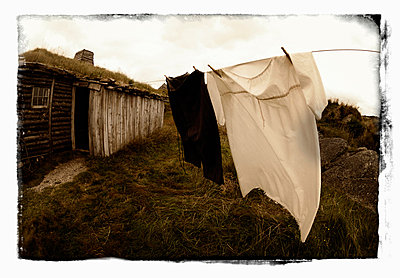 Rural Clothes Lines - p6941014 by Kevin Spreekmeester