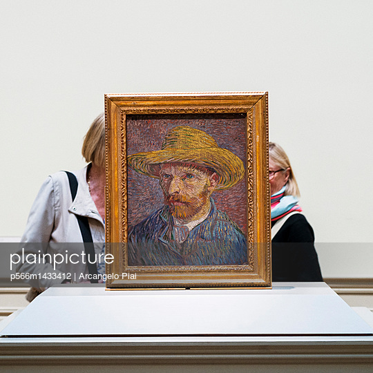 United States;  USA;  New York City;  Manhattan;  Upper East Side;  Museum Mile;  Metropolitan Museum of Art;  MET;  Vincent van Gogh;  Self-Portrait with a Straw Hat - p566m1433412 by Arcangelo Piai
