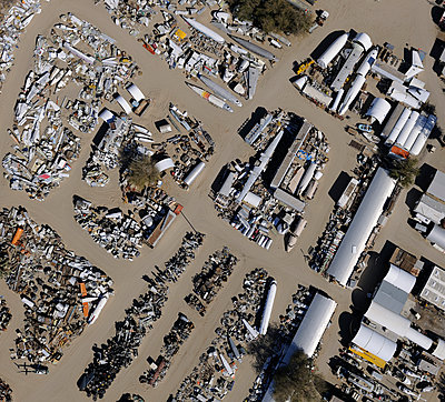 Airplane junkyard - p1048m1058614 by Mark Wagner