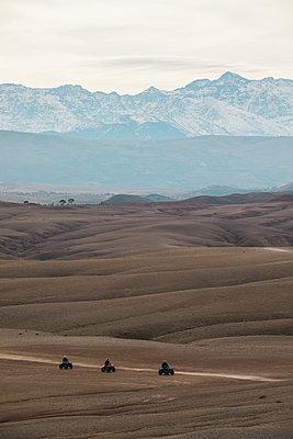 Marrakesh, Desert,  Quad-biking - p1253m2152631 by Joseph Fox