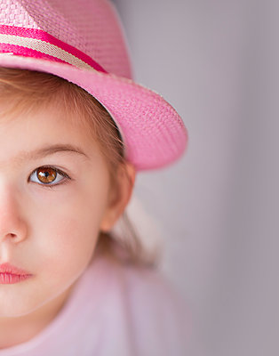 Girl with Pink Fedora - p1459m1526034 by Zoe Space