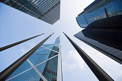 Skyscrapers in hong kong - p9246128f by Image Source