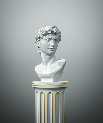 Three-dimensional model, Bust of Michelangelo - p1275m2135121 by cgimanufaktur