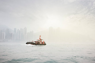 Ferry in Hong Kong - p6560080 by W. Hannes