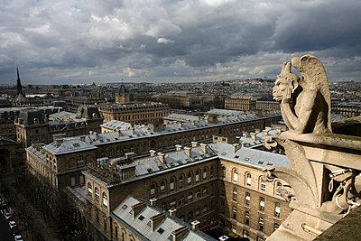 France, Paris, view over Paris from Notre Dame Cathedral - p300m1120488f by David Santiago Garcia
