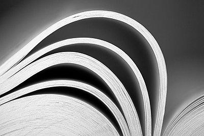 Close-up of book pages - p1682m2270273 by Régine Heintz