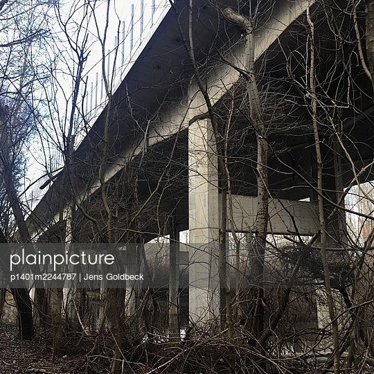 Austria, Bridge near Fischamend - p1401m2244787 by Jens Goldbeck