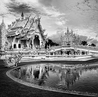 Wat Rong Khun, Buddhist temple  - p1445m2122706 by Eugenia Kyriakopoulou